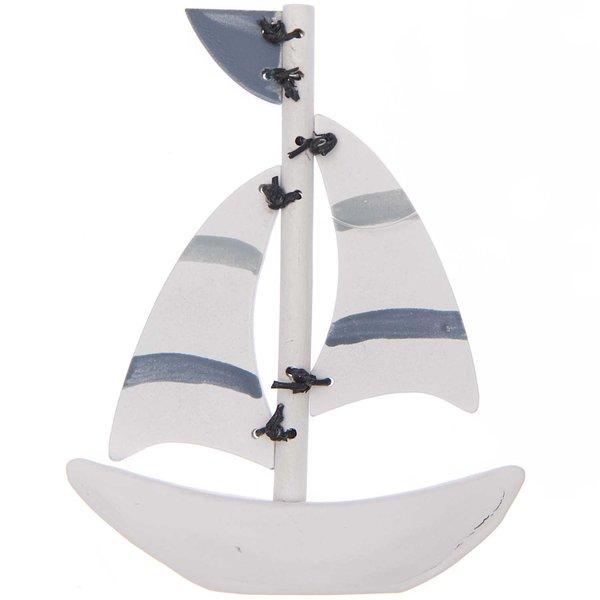 Ohhh! Lovely! Segelboot aus Holz gestreift 9,5x1,5x12cm