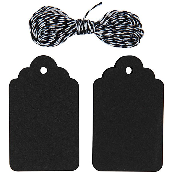 Paper Poetry Geschenkanhänger Ornament schwarz 20 Stück