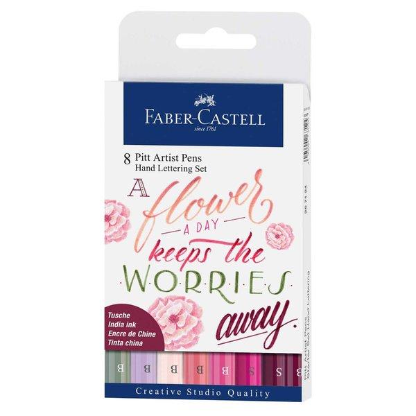 Faber Castell Tuschestift Pitt Artist Pen Handlettering Rosatöne 8 Stück