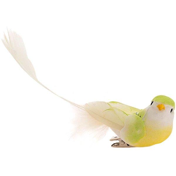 Vogel am Clip grün 12cm