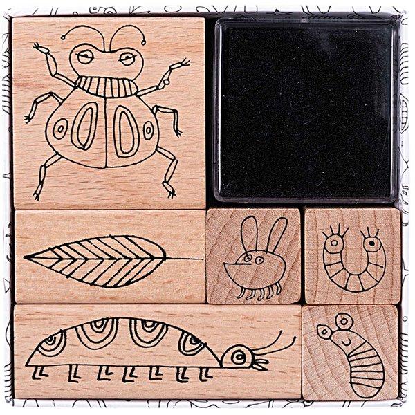 Paper Poetry Stempelset Insekten 6 Stück