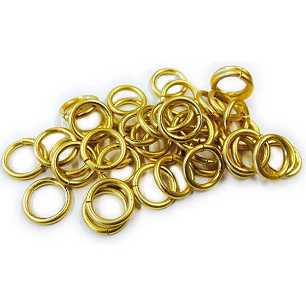 Rico Design Aluminiumringe gold matt 50 Stück