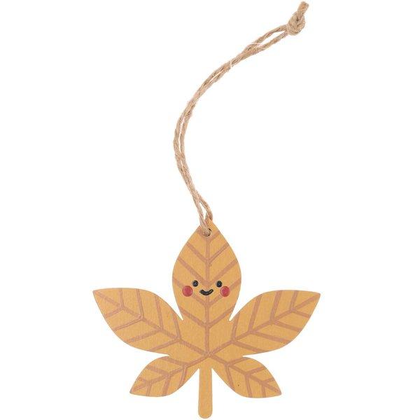 Ohhh! Lovely! Holzanhänger Herbstblatt braun 8x7cm