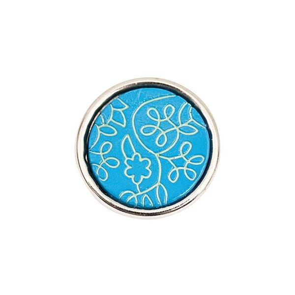 Rico Design Knopf Blüten hellblau 14mm