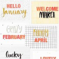 Anleitung Handlettering Kalender