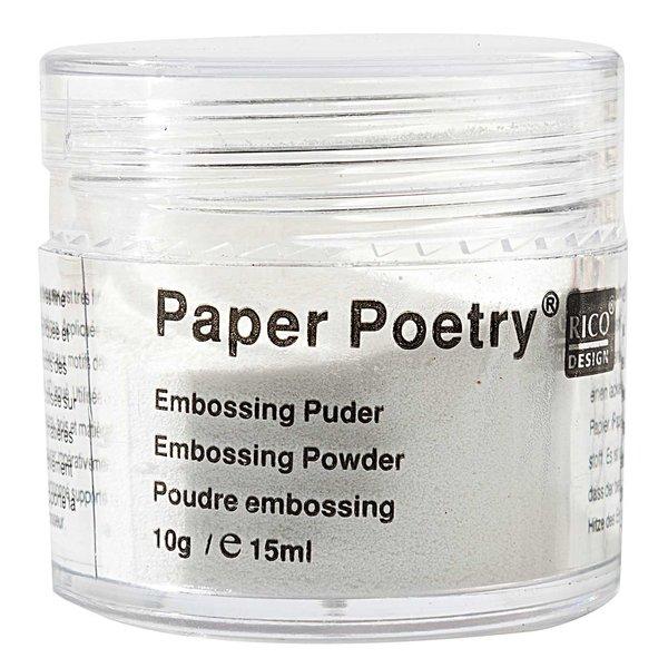 Paper Poetry Embossingpuder weiß matt 10g