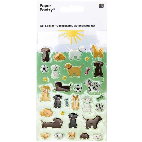 Paper Poetry Gelsticker Hunde