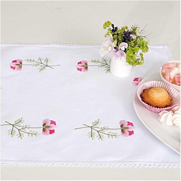 Rico Design Stickpackung Decke Frühlingsblüte 35x50cm