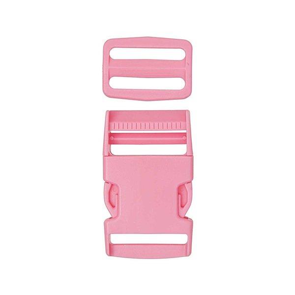 Jewellery Made by Me Steckverschluss mit Schnalle rosa 25mm