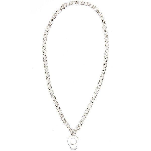 Rico Design Perlenkette versilbert 80cm
