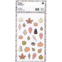 Paper Poetry Sticker Blätter Kawaii 4 Blatt