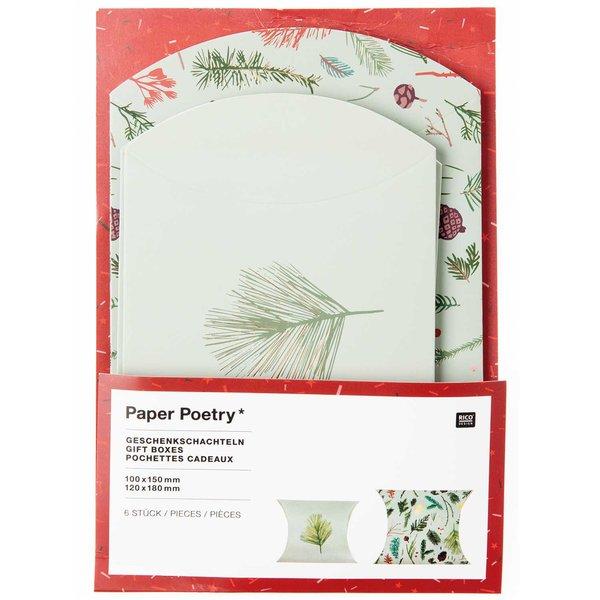 Paper Poetry Geschenkschachteln Nostalgic Christmas grün 6 Stück
