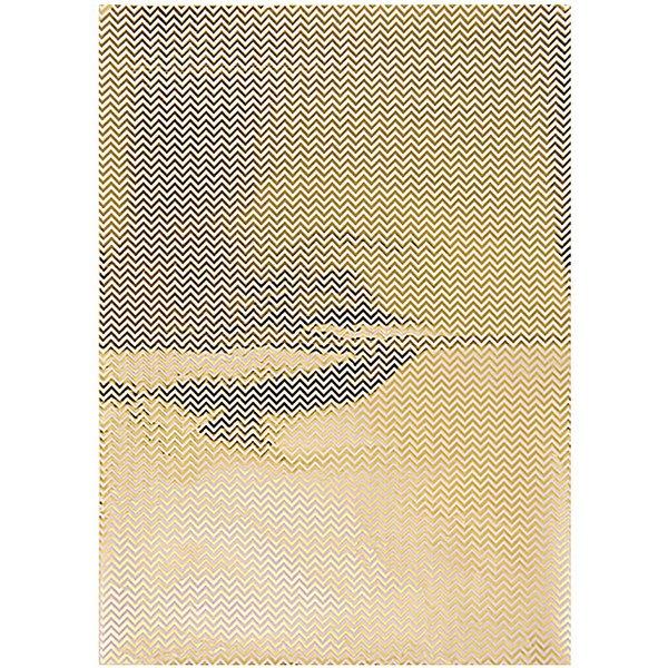 Rico Design Paper Patch Papier Zickzack gold 30x42cm Hot Foil