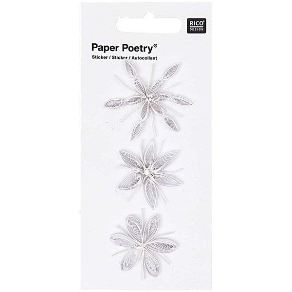 Paper Poetry Quilling Sticker Eiskristalle