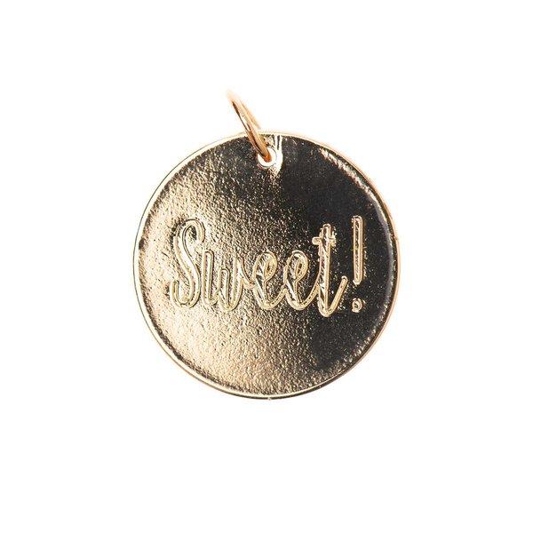 Mix it Up - Jewellery Anhänger Scheibe Sweet gold Ø17mm