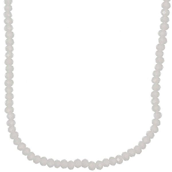 Rico Design Glasschliffkette weiß 70cm