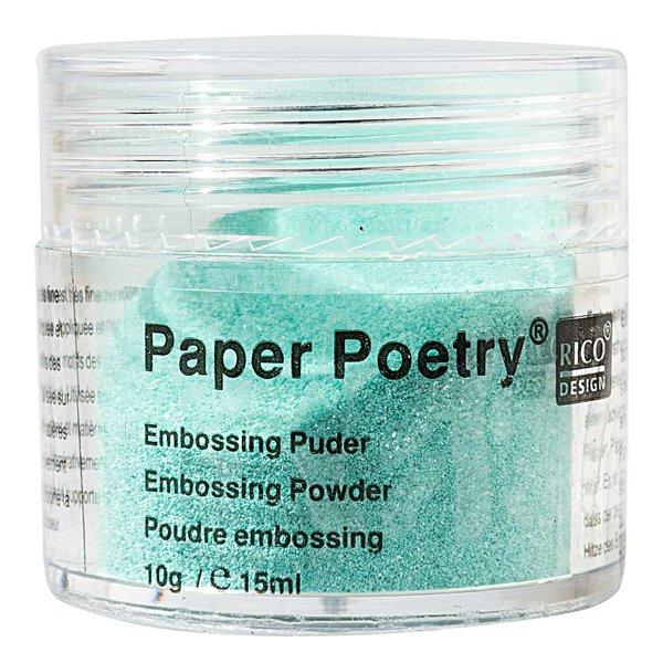 Paper Poetry Embossingpuder mint perlmutt 10g