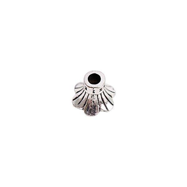 Rico Design Kappe gemustert silber 9mm 5 Stück