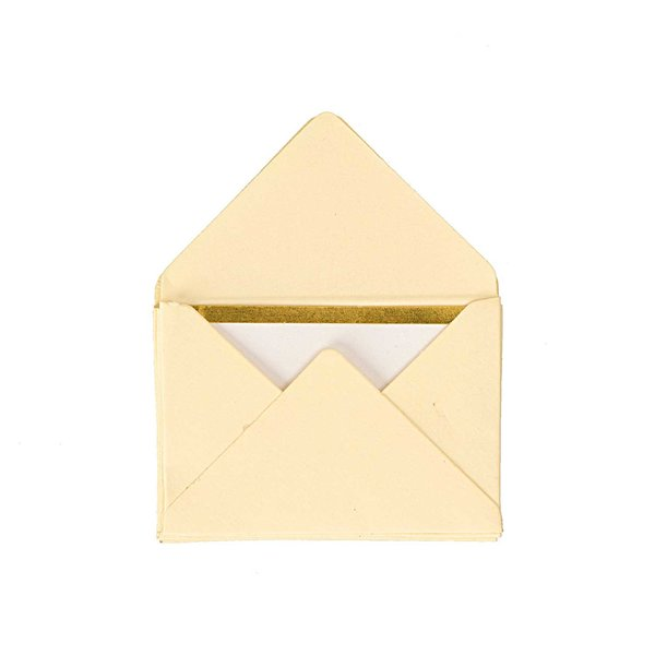 Paper Poetry Mini Briefe elfenbein 3x4,5cm 10 Stück