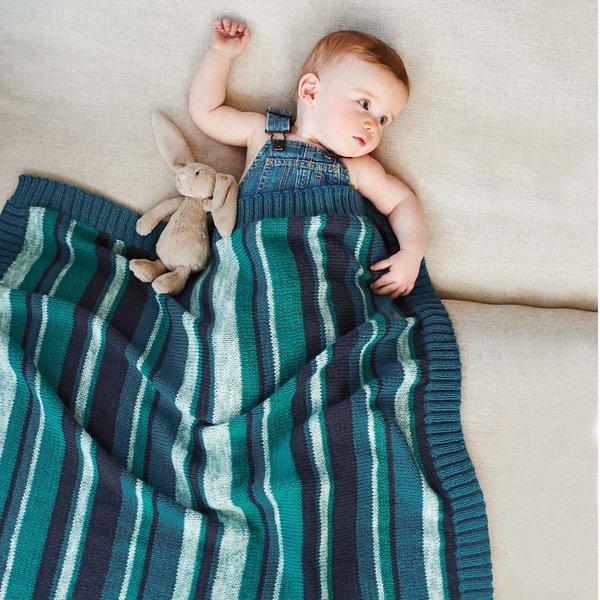 Strickset Decke Modell 14 aus Rico Baby Nr. 023