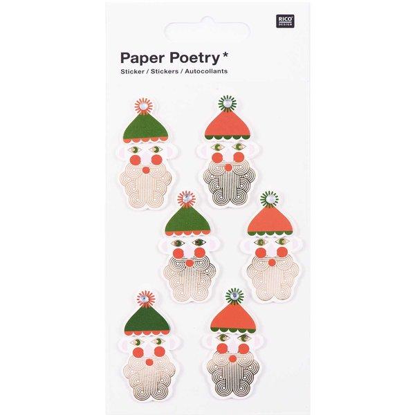 Paper Poetry 3D Sticker Nikolaus Hot Foil