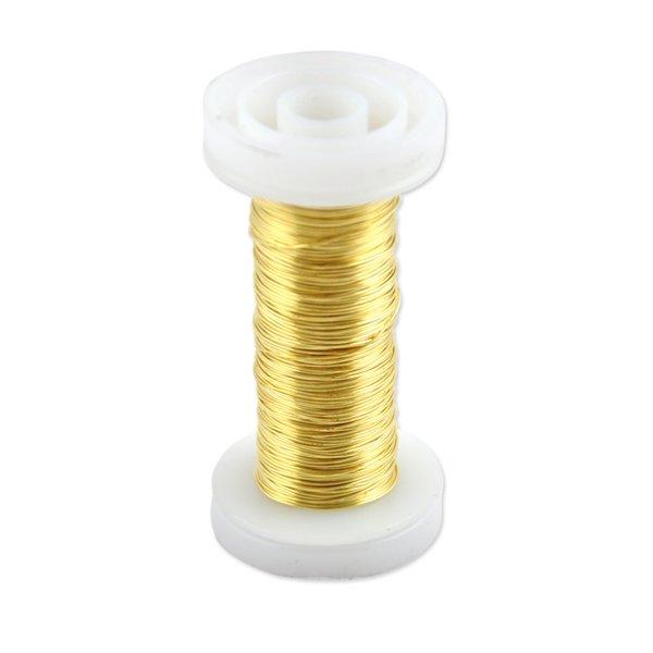 Schmuckdraht gold 0,4mm 40m