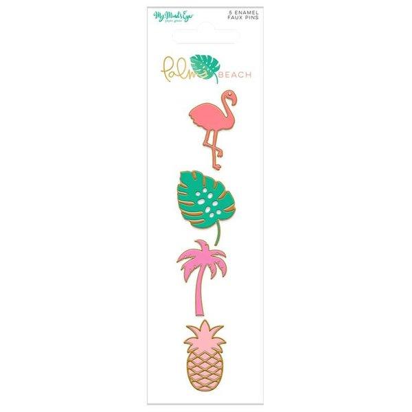MyMindsEye Scrapbooking Enamel Pins Palm Beach 4 Stück