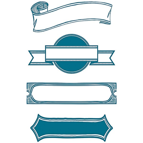 Paper Poetry Silikonstempel Banner 4 Motive