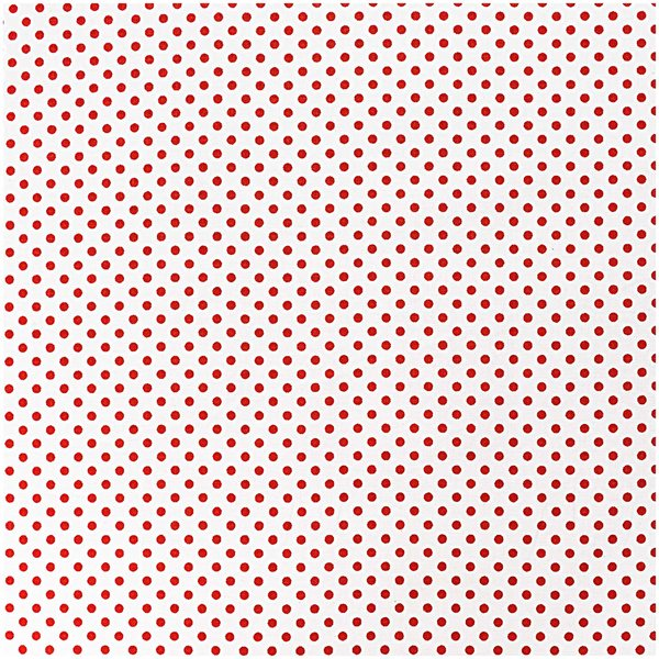 Rico Design Stoff Punkte rot-weiß 140cm