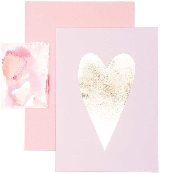 Paper Poetry Grußkartenset Herz gold