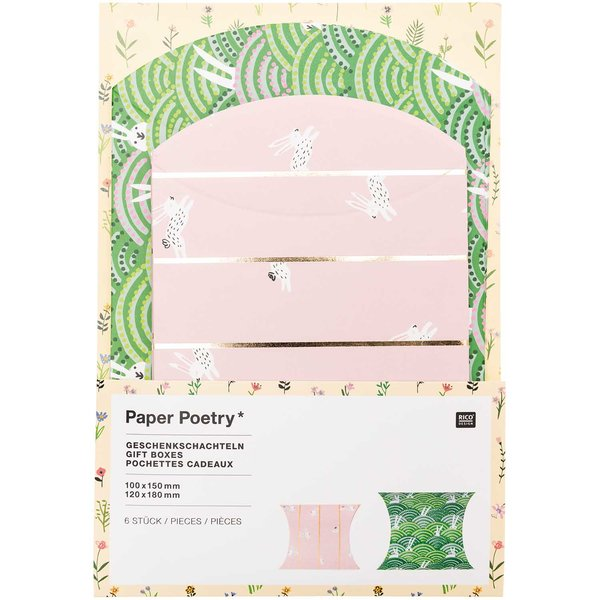 Paper Poetry Geschenkschachteln Bunny Hop 6 Stück