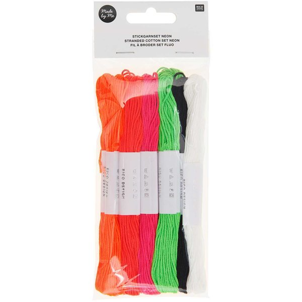 Rico Design Stickgarn Set Neon 10teilig