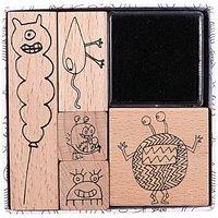 Paper Poetry Stempelset kleine Monster 5 Stück