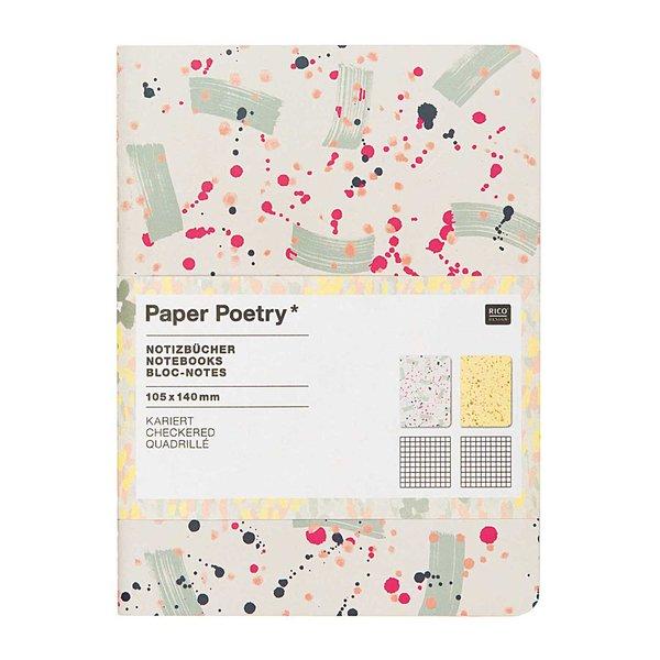 Paper Poetry Notizbücher Crafted Nature gefleckt A6 40 Seiten 2 Stück