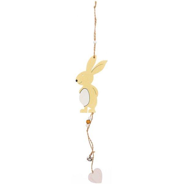 Ohhh! Lovely! Hänger Holzhase mit Glocke gelb 38,5cm