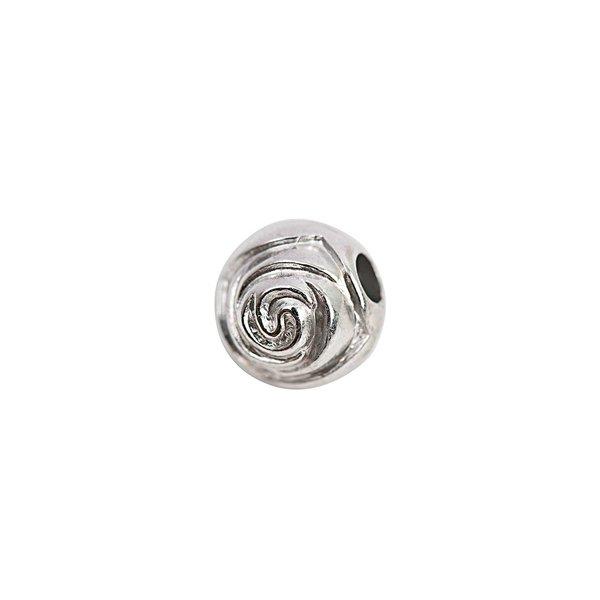 Rico Design Kugel Rose silber 11mm 25 Stück