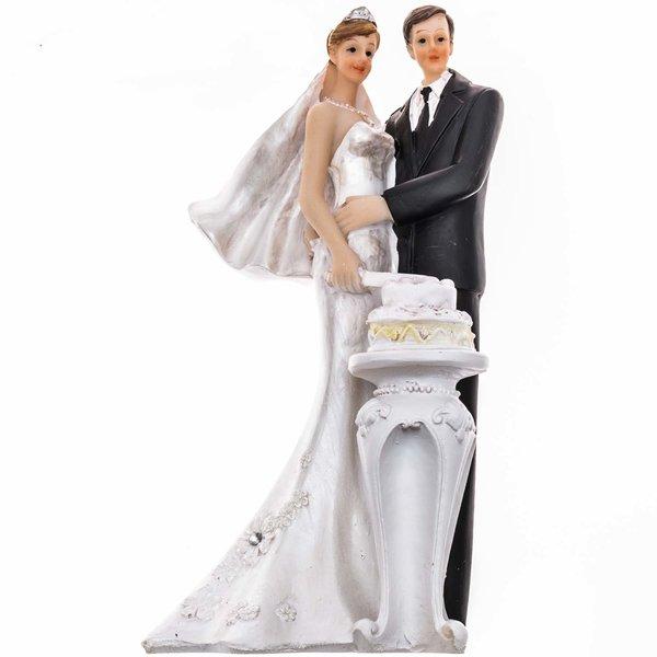 Brautpaar mit Hochzeitstorte 14cm