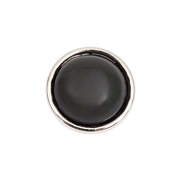 Rico Design Knopf Achat schwarz 14mm