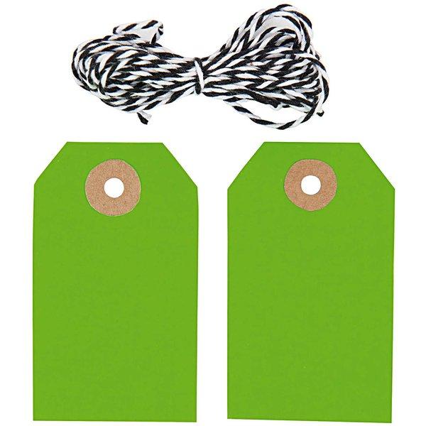 Paper Poetry Geschenkanhänger eckig neongrün 20 Stück
