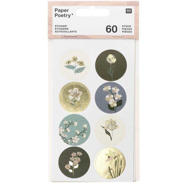 Paper Poetry Sticker Nature Matters grün 4 Blatt
