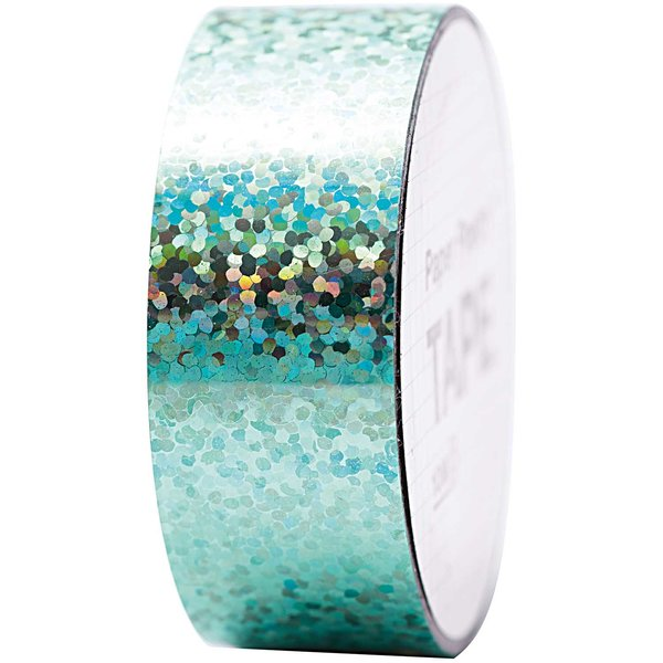 Paper Poetry Holographic Tape Punkte türkis 19mm 10m