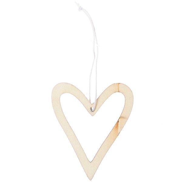 Ohhh! Lovely! Holzhänger Herz offen natur