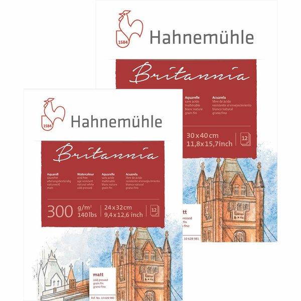 Hahnemühle Aquarellblock Britannia matt 300g/m² 12 Blatt