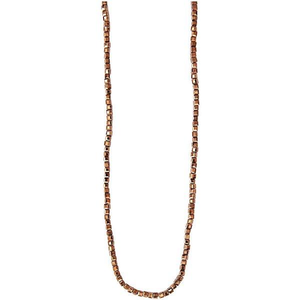 Rico Design Glasschliffkette Würfel braun 70cm