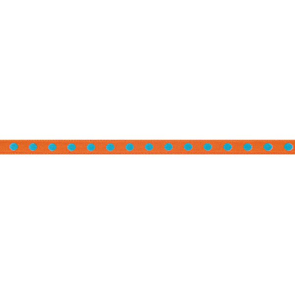 Rico Design Ribbon gewebte Punkte orange-türkis 2m
