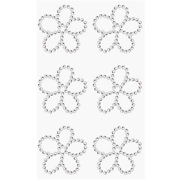 Paper Poetry Strass-Sticker Blumen crystal