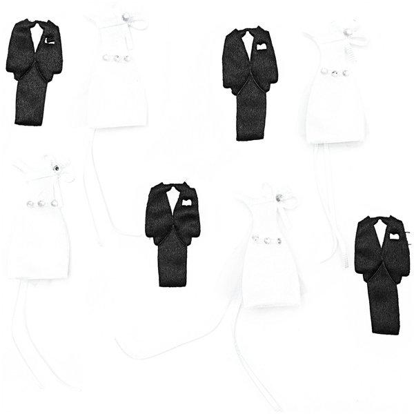 Streu Hochzeitsaccessoires Er & Sie Satin 8 Stück