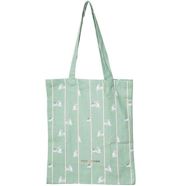 Rico Design Canvas-Shopper Bunny Hop 38x45x10cm
