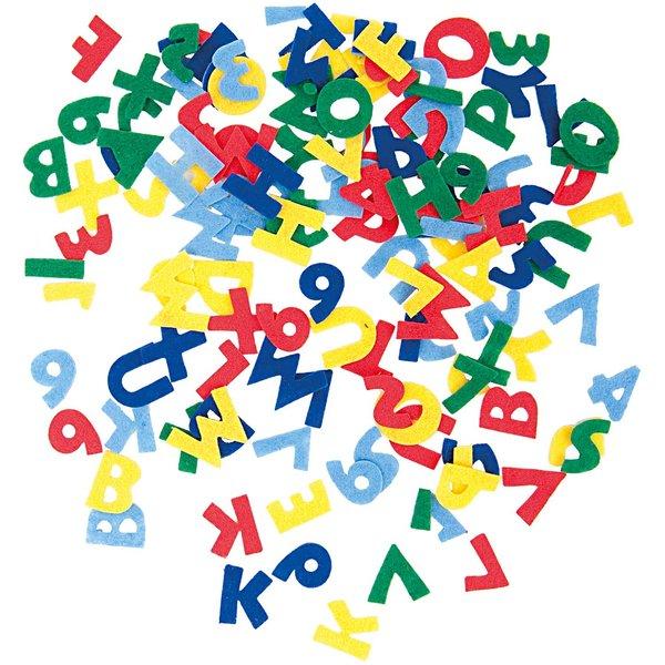 Rico Design Filzbuchstaben mehrfarbig selbstklebend