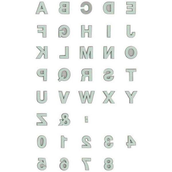 Rico Design Moosgummistempel Set Alphabet 2